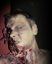 Chris Honey make up test for Turn In Your Grave